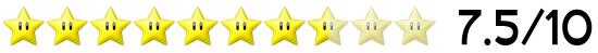 7,5 Sterne