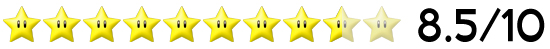 8,5 Sterne