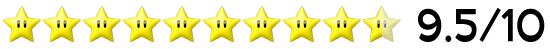 9,5 Sterne