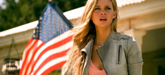 Star Spangled Banner? - Check. Good acting? - Well, we got the flag...